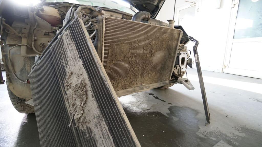 Чистка радиатора Порше в Тюмени